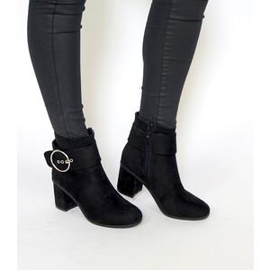 Girlhood Black Large Buckle Boots
