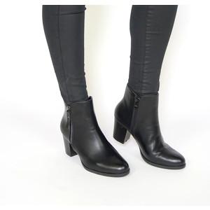 Pamela Scott Black Double Zip Ankle Boots