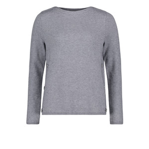 Betty Barclay Grey Melange Round Neck Knit