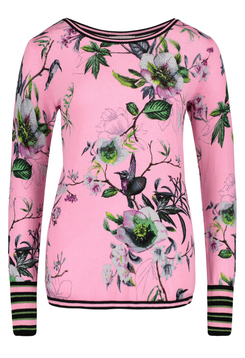 Betty Barclay Rosé/Green Floral Print Knit