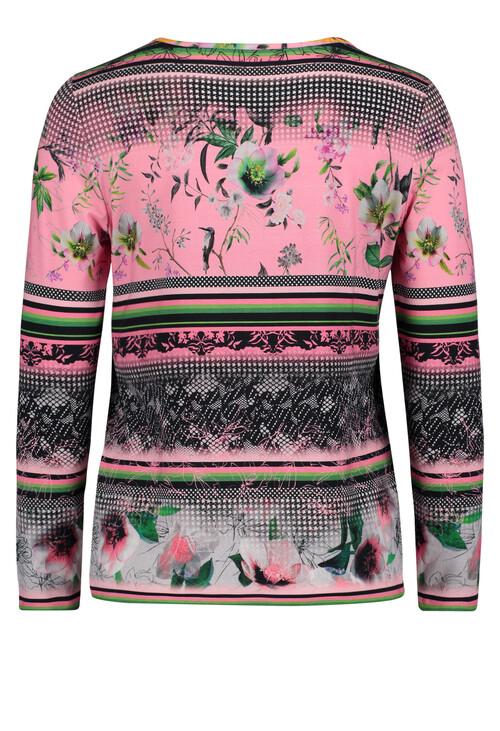 Betty Barclay Pink Shades Mixed Pattern T-shirt