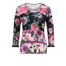 Betty Barclay Pink/Black Floral Print Top