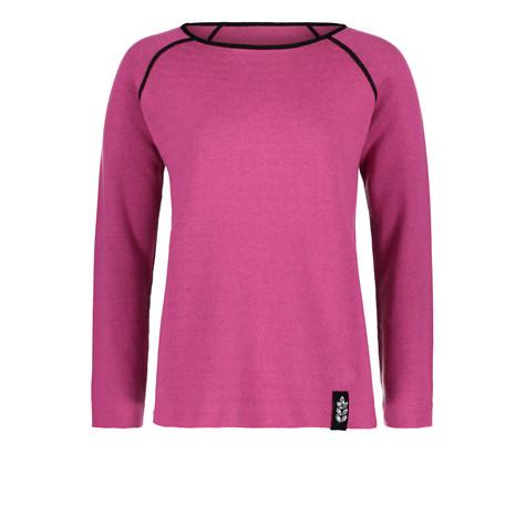 Betty Barclay Hot Pink & Black Strip Knit