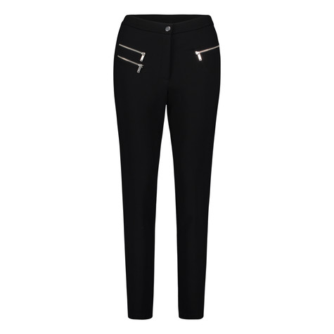 Betty Barclay Black Slim Zip Detail Trousers