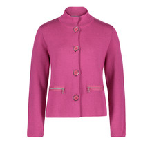 Betty Barclay Pink Button Up Knit Jacket