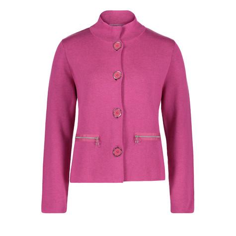Betty Barclay Pink Button Up Knit Jacket