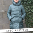 Laura Jo Bottle Green Padded Jacket - NOW €50