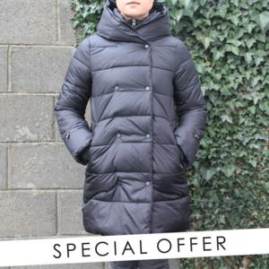 Laura Jo Black Padded Coat - NOW €50