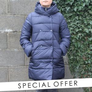 Laura Jo Navy Padded Jacket - NOW €50