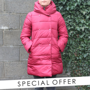 Laura Jo Wine Padded Coat - NOW €50