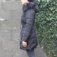 Kelya Black Faux Fur Parka Coat - NOW €65