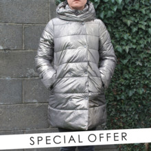 Laura Jo Gold Padded Coat - NOW €60