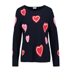 Gerry Weber SCATTERED HEART JUMPER NAVY