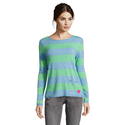 Betty Barclay Blue & Green Fine knit jumper