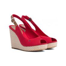 Tommy Hilfiger Iconic Elena Red Sling Back Sandals
