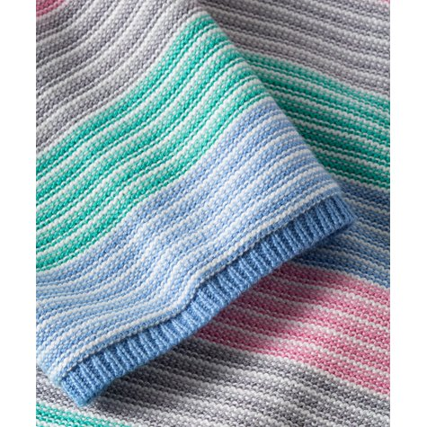 Olsen SWEATER WITH CHEERFUL COLOURING - BLUE WATER