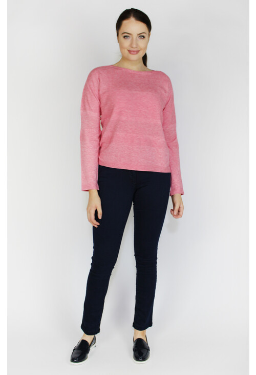 Betty Barclay Bright Pink Melange Fine knit jumper