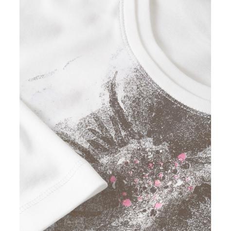 Olsen T-SHIRT WITH FLOWER PRINT - OFF WHITE