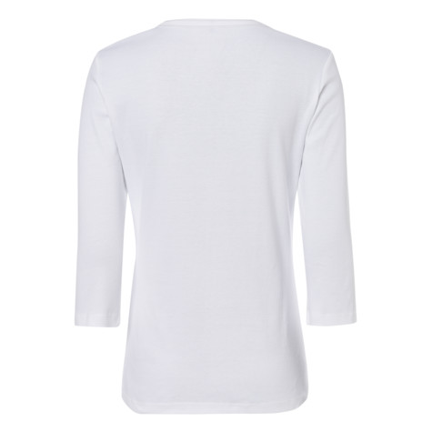 Olsen T-SHIRT WITH DECORATION ON THE NECKLINE - WHITE