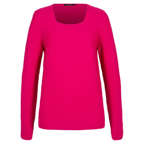 Olsen SWEATER WITH ANGULAR NECKLINE - PARADISE PINK