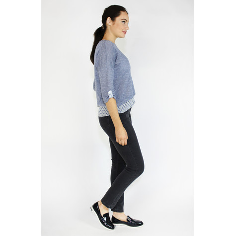 SophieB Blue & White 2 in 1 Knit Top