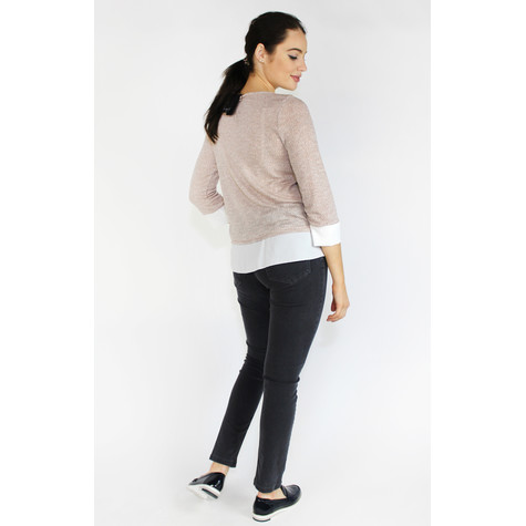 SophieB Nude Shimmer 2 in 1 Knit
