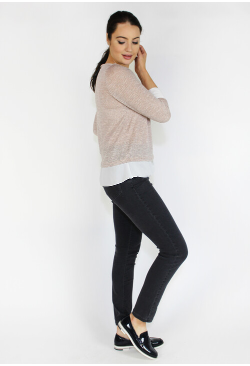 Sophie B Nude Shimmer 2 in 1 Knit