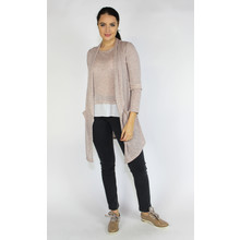 SophieB Nude Shimmer Open Light Knit