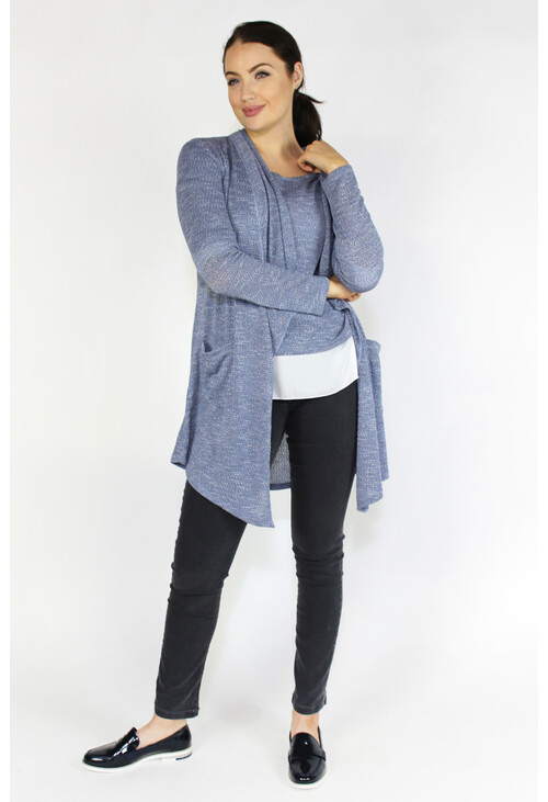 Sophie B Light Blue Shimmer Open Knit