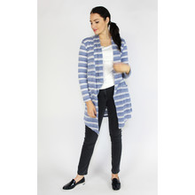 SophieB Blue & White Pattern Open Knit
