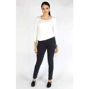 SophieB Cream Round Neck Long Sleeve Top