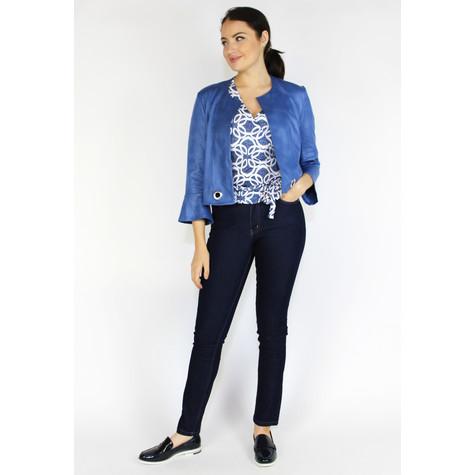 SophieB Blue Short Crop Buckle Detail Jacket