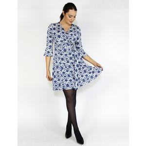 SophieB Denim & White Wrap Belted Dress