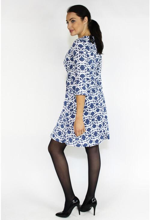 Sophie B Denim & White Wrap Belted Dress