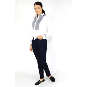 Tinta Style White & Black Diamond Pattern Blouse