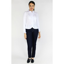 Tinta Style White Lace Trim Button Up blouse