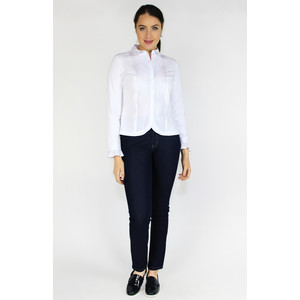 Tinta Style White Lace Trim Button Up blouse