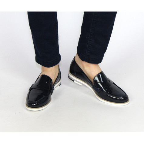 Marco Tozzi Navy Slip On Shoe