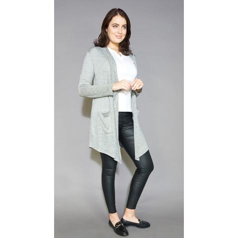 SophieB Khaki Metallic Shimmer Long Open Knit