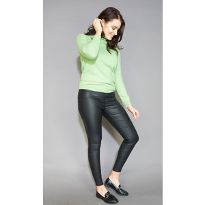 Pamela Scott GREEN PLAIN TURTLE NECK