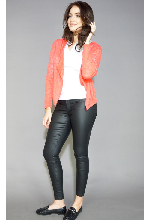 Twist Coral Light Weight Open Knit