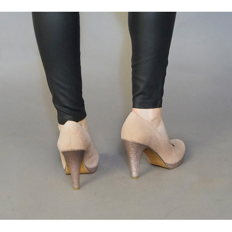 Marco Tozzi Rose Metallic Glitter Detail Heel