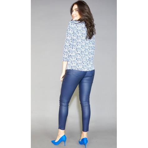 SophieB Blue & Leave Stud Detail Top