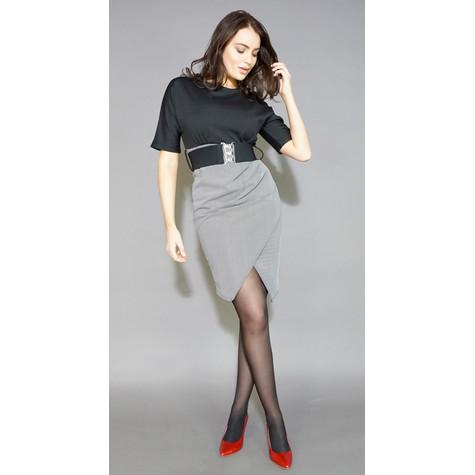 Zapara Black & White Belt Detail Dress
