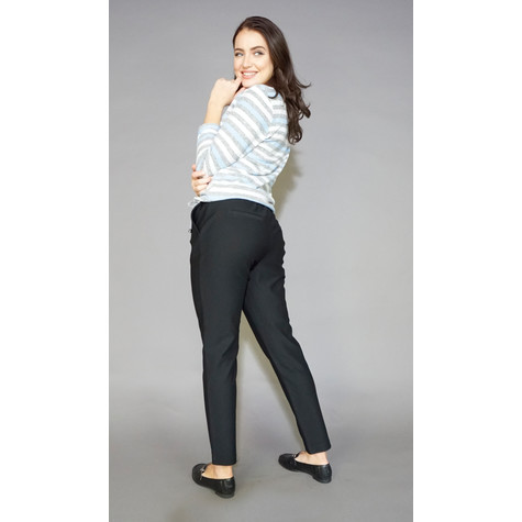 Zapara Black Easy Trousers