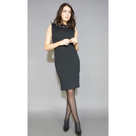 Zapara Black Stud Detail Sleeveless Dress