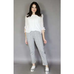 Zapara Navy & Grey Pinstripe Trousers