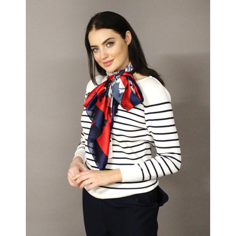 Best Angel Red & Navy Flower Print Scarf