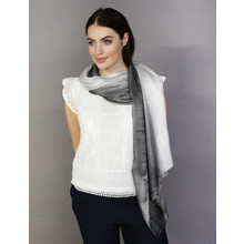Pamela Scott Grey & Silver Two Tone Scarf