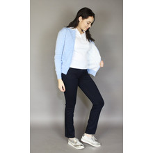 Twist Sky Blue Off White Spot Knit